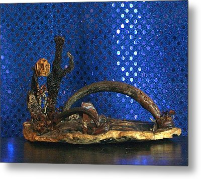 Metal Print featuring the photograph Thr Ferry Man by Carolyn Cable