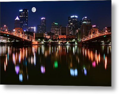 Three A M  Metal Print by Frozen in Time Fine Art Photography