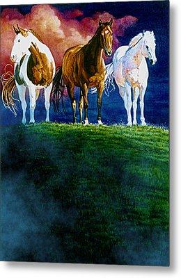 Three Amigos At Sunrise Metal Print by Hanne Lore Koehler