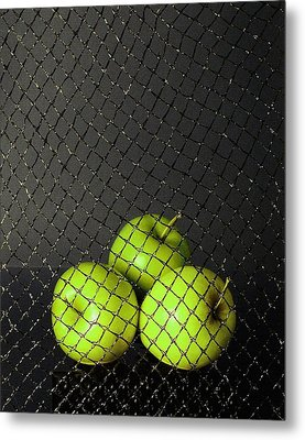Metal Print featuring the photograph Three Apples by Viktor Savchenko