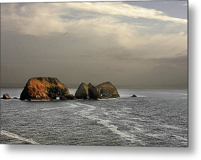 Three Arch Rocks - Oceanside Near Cape Meares - Oregon Metal Print by Christine Till