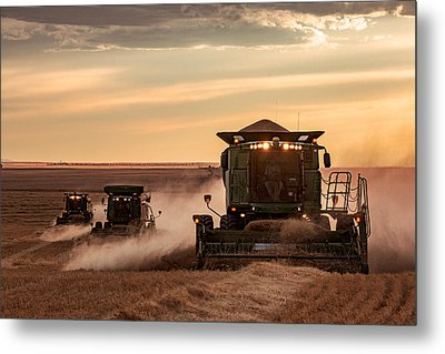 Three At Work Metal Print