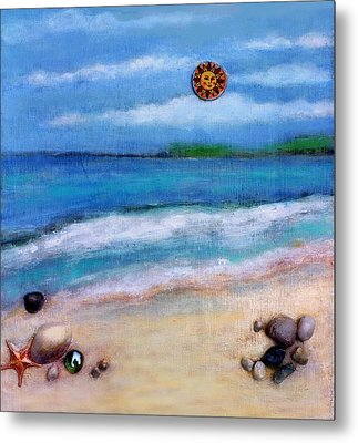 Three Beaches A Metal Print