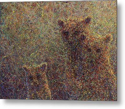 Three Bears Metal Print by James W Johnson