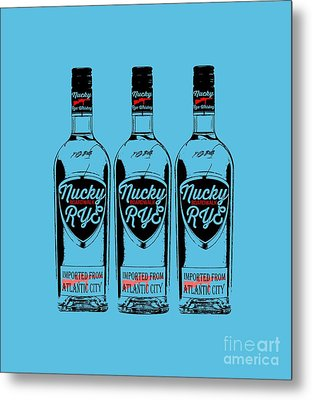 Three Bottles Of Nucky Rye Tee Metal Print by Edward Fielding