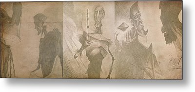 Three Brothers - Combined Metal Print