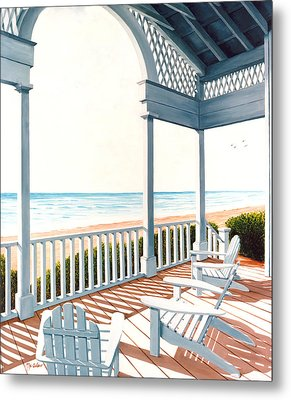 Adirondacks By The Sea - Prints From Original Oil Painting Metal Print