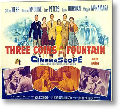 Three Coins In The Fountain, Clifton Metal Print by Everett