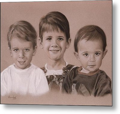 Three Cousins Metal Print by Nanybel Salazar