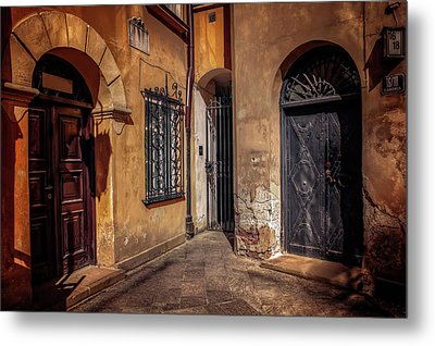 Three Doors In Warsaw Metal Print