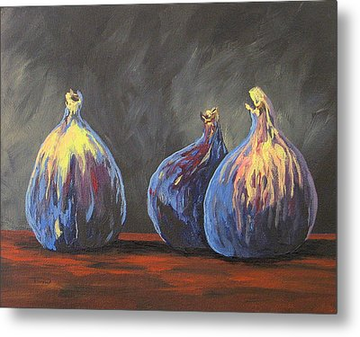 Three Figs Metal Print by Torrie Smiley