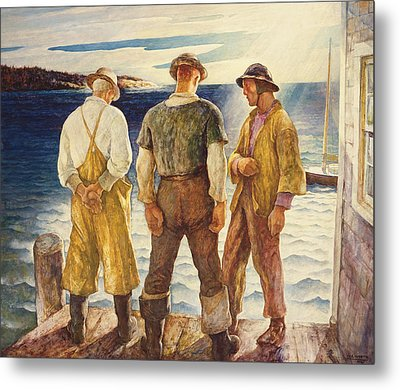 Three Fishermen Metal Print
