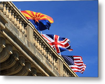 Three Flags At London Bridge Metal Print by James Eddy
