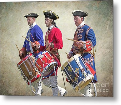 Three French Drummers Metal Print