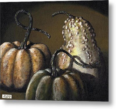 Three Gourds Metal Print by Adam Zebediah Joseph