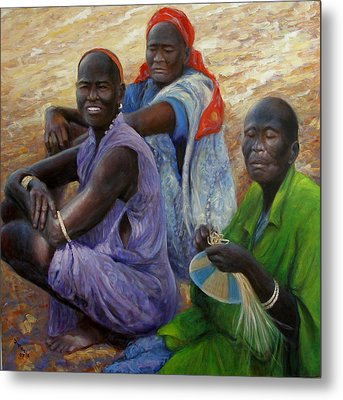 Metal Print featuring the painting Three Graces by Donelli  DiMaria
