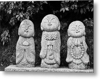Three Happy Buddhas Metal Print by Dean Harte