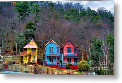 Metal Print featuring the photograph Three Houses Hot Springs Ar by Diana Mary Sharpton