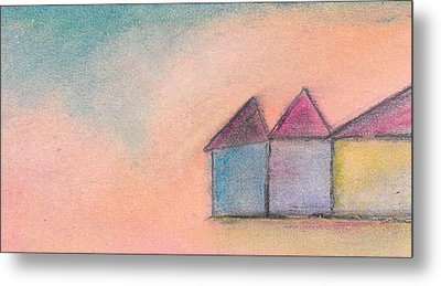 Three Houses Metal Print