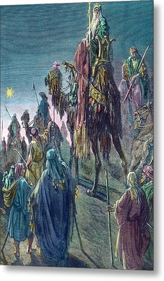 Three Kings  Christmas Card Metal Print