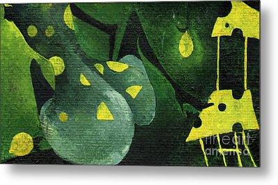 Three Lemons Metal Print by Maya Manolova