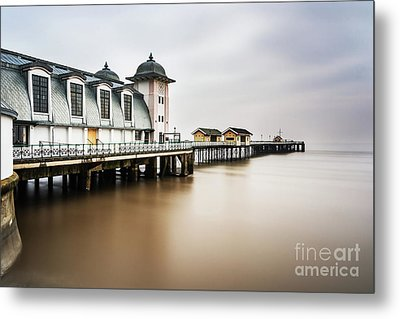 Three Minutes At Penarth Pier Metal Print by Steve Purnell