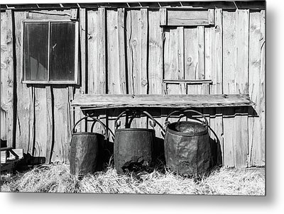Three Old Buckets Metal Print