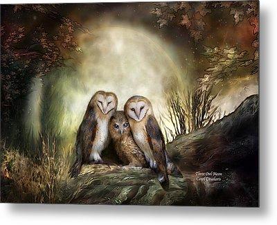 Three Owl Moon Metal Print by Carol Cavalaris