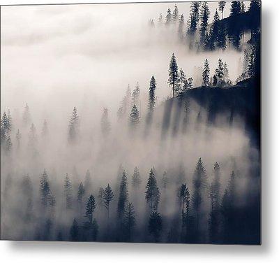 Three Ridges Fog Metal Print
