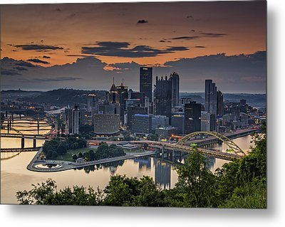 Three Rivers Sunrise Metal Print by Rick Berk