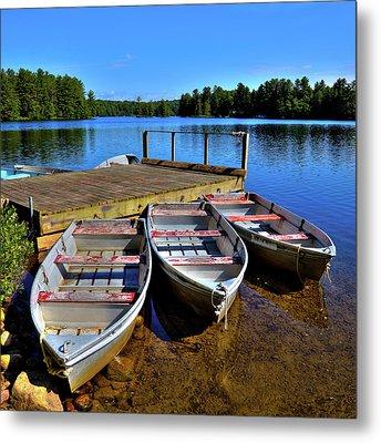 Three Rowboats Metal Print by David Patterson