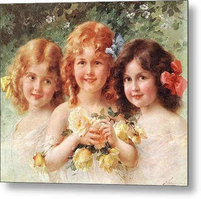 Three Sisters Metal Print by Emile Vernon