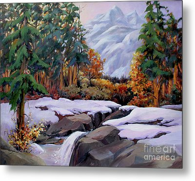 Three Sisters Near Banff Metal Print