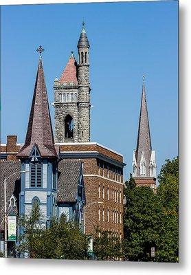 Three Steeples Of St Johnsbury Vermont Metal Print by Tim Kirchoff