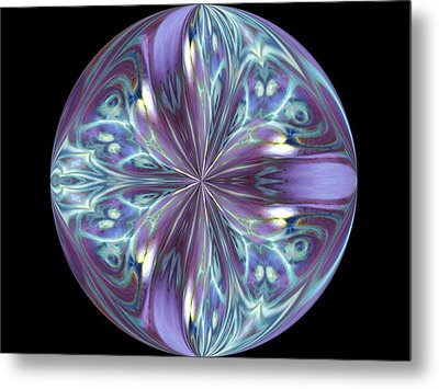 Three Violet Petals Metal Print by Yvette Pichette