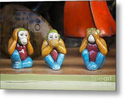 Three Wise Monkeys Metal Print by Tim Gainey