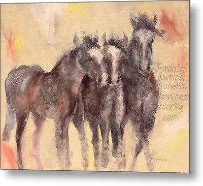 Through A Horses Ears Metal Print by Ron Patterson