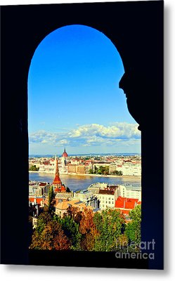 Through An Arch In Budapest Metal Print by Madeline Ellis