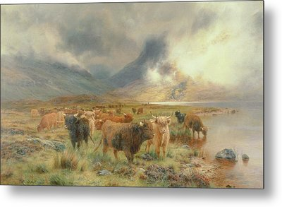 Through Glencoe Metal Print by Louis Bosworth Hurt