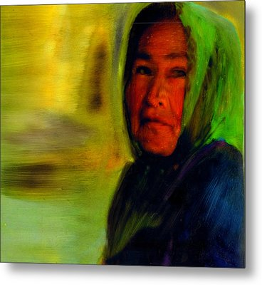 Metal Print featuring the painting Through Native Eyes by FeatherStone Studio Julie A Miller