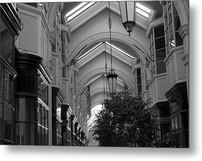 Through The Building Metal Print by M Valeriano