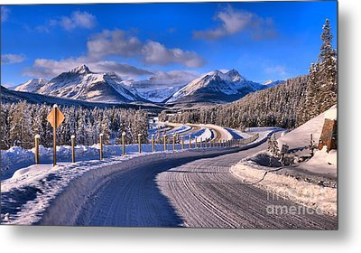 Through The Canadian Rocky Mountains Metal Print by Adam Jewell