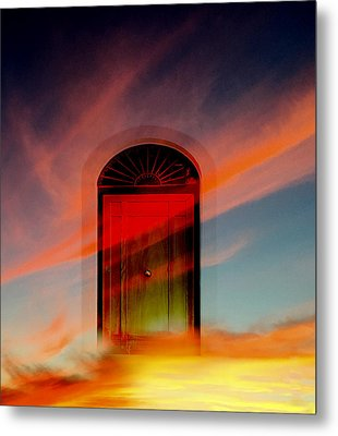 Metal Print featuring the digital art Through The Door by Katy Breen