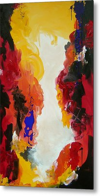 Through The Flame Metal Print by Nicole Lee