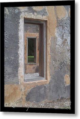 Through The Horton Window Metal Print by Rebecca Stephens