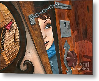Through The Keyhole Metal Print by Denise M Cassano