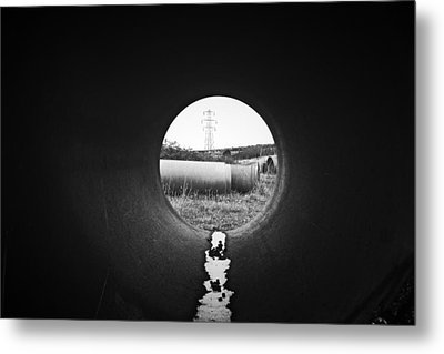 Through The Pipe Metal Print by Keith Elliott