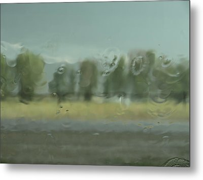 Through The Rain Metal Print by DeeLon Merritt