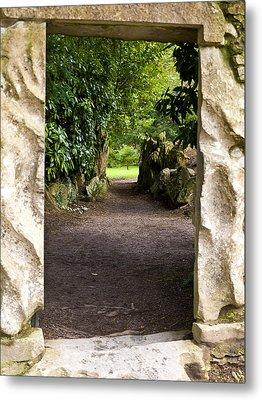 Through The Stone Wall Metal Print by Rae Tucker