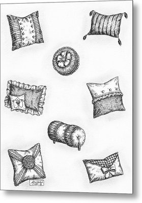 Throw Pillows Metal Print by Adam Zebediah Joseph